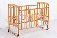Детская кроватка «LAMA» ( натуральный лак )