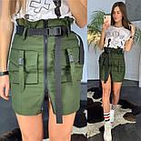 Женские юбка с накладными карманами и молнией (3 цвета), фото 4