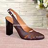Босоножки кожаные на высоком каблуке, цвет бордо, фото 2