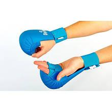 Перчатки для каратэ DAEDO PG-47 (PU, р-р S-XL, синий, манжет на резинке)