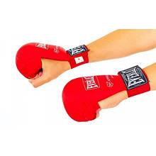 Перчатки для каратэ ELAST PG-44 (PU, р-р S-XL, красный)