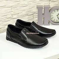 Туфли кожаные мужские, цвет черный, фото 1