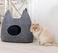 """Домик для животных Digitalwool """"Ушастик с подушкой"""", серый (DW-92-01)"""