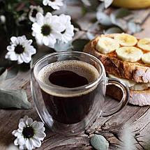 Чашки кофейные двойное дно набор 2 шт по 75 мл стеклянные с двойным дном комплект для кофе эспрессо, фото 2