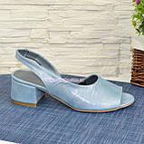 Босоножки женские замшевые на маленьком каблуке, фото 2