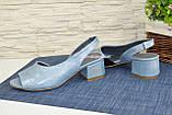Босоножки женские замшевые на маленьком каблуке, фото 4