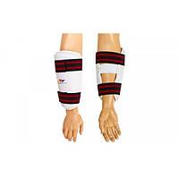 Защита для таеквондо рук (предплечья) WTF ( S-XL, белый, крепление на липучках)