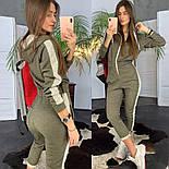 Женский стильный комбинезон с капюшоном и лампасами (в расцветках), фото 4