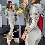 Женский стильный комбинезон с капюшоном и лампасами (в расцветках), фото 9
