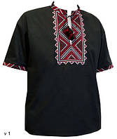 Мужская вышитая футболка «Альфа»