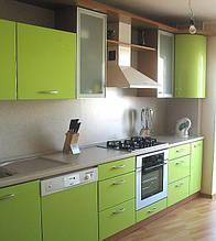 Кухня цвета сочного яблока