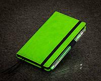 Блокнот с черной бумагой Зеленое Яблоко мини