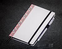Блокнот с черной бумагой Белая Вышиванка стандарт