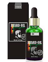 Inside Средство для бороды c маслом макадами и конопляным маслом Inside Beard Oil 30 мл.