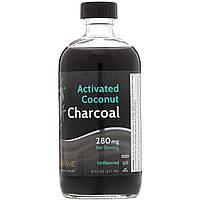 LifeTime Vitamins, Активированный кокосовый уголь, без запаха, 280 мг, 8 жидких унций (237 мл)