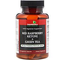 FutureBiotics, Кетоны из красной малины + зеленый чай, 60 вегетарианских капсул