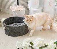 Корзина-лежак для животных Digitalwool с подушкой, серый (DW-91-05)
