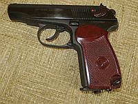 Реальная серия 32 пневматический пистолет макаров МР654К baikal, ижевск. Сходство с боевым. Дутая задержка