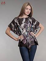 Блузка женская шелк коричневая