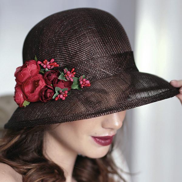 Легка чорна капелюх з соломки синамей поля 8 см розмір 55-59 см