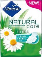 Прокладки гигиенические Libress Natural Care Ultra Super, 5 капель, 9 шт