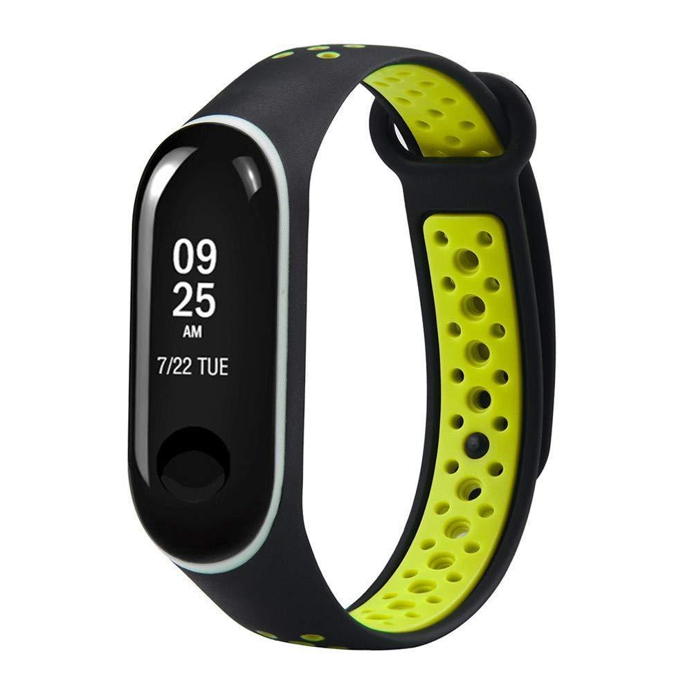 Ремешок для фитнес-браслета Xiaomi Mi Band 3 Nike Black-Green