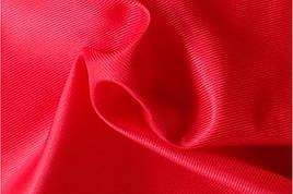 Подкладочная ткань диагональ  красный
