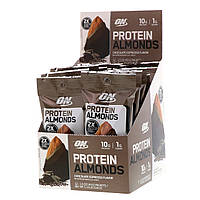 Optimum Nutrition, Протеин с миндалем, шоколадный эспрессо, 12 пакетиков, по 1,5 унции (43 г) каждый