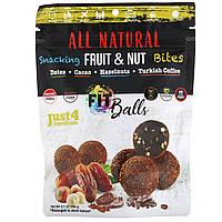 Nature's Wild Organic, All Natural, закуски из фруктов и орехов, фит-шарики, финики + какао + лесные орехи + турецкий кофе, 5,1 унции (144 г)