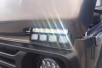 ОРИГИНАЛ!!  Диодные подфарники для Лада 4х4 Нива с ДХО тюн-авто, фото 1