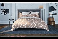 Постельное белье ТЕП Ранфорс Двуспальный комплект Star brown