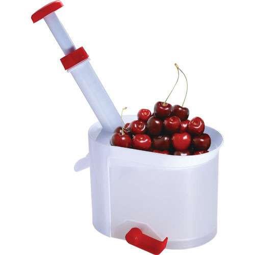 Машинка для удаления косточек. Удалить косточки с вишни. Helfer Hoff Cherry and olive corer, белая