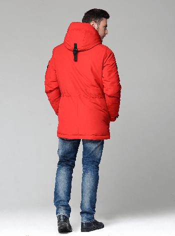 Мужской зимний пуховик CW17MD041СN Clasna на синтепухе - красный (#102), 50 размер, фото 2