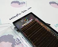 Ресницы КОРИЧНЕВЫЕ  изгиб D, толщ.0,10, 9(5) 10(5) 11 (5) 12(5), I-Beauty