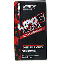 Nutrex Research, Lipo-6 Black Ultra Concentrate, 30 Black-Caps