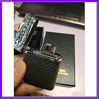 Металлическая беспламенная зажигалка для сигарет аккумуляторная электронная с USB аллигатор