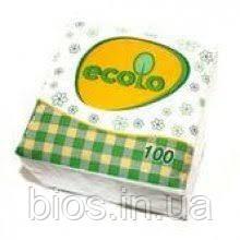 Серветки Ecolo (100шт) 1-шар