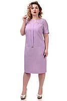 Женское платье лён-гипюр, фото 1