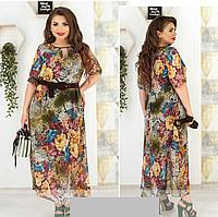 Летнее платье шифоновое, с 50-60 размер, фото 1