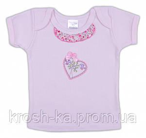 Футболка для новорожденных 68(р) (Гарден)Garden Baby Украина розовая 26059