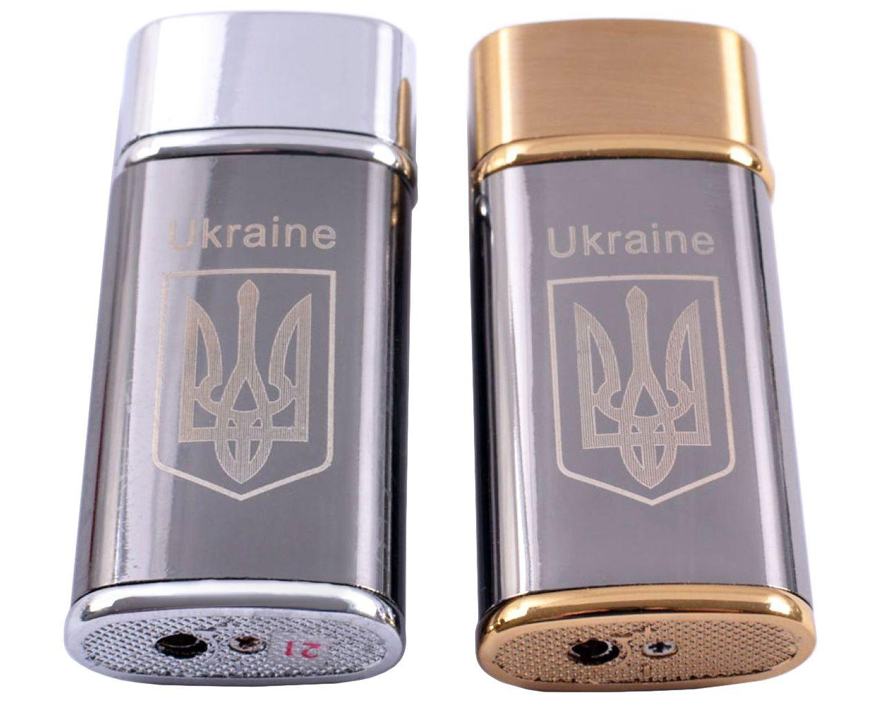 Зажигалка карманная Украина (турбо пламя) №4402