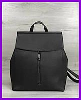 Женская молодежная городская сумка-рюкзак трансформер WeLassie Фаби серая, фото 1