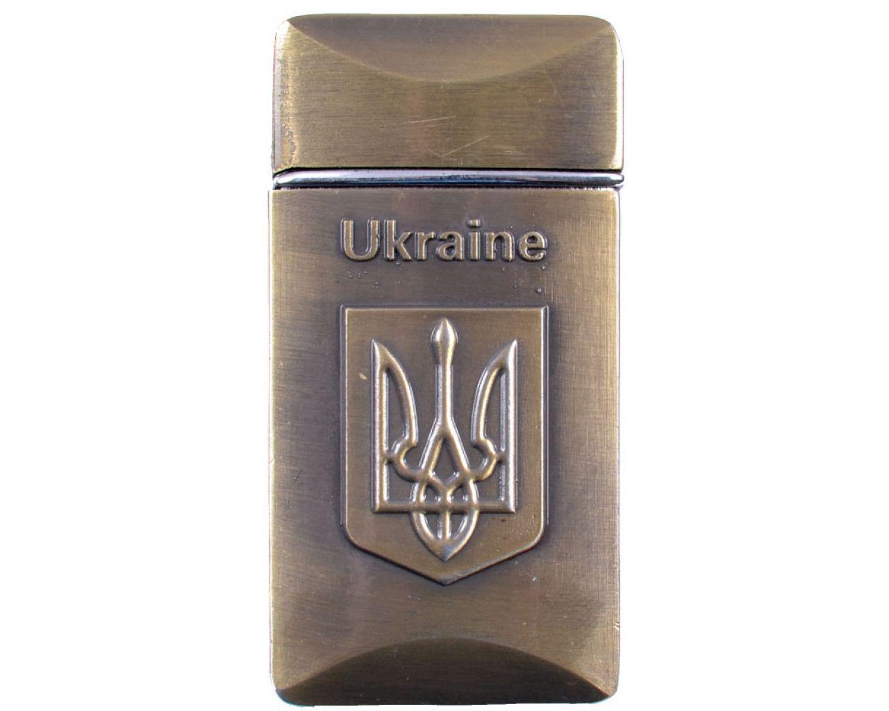 Зажигалка карманная Украина (турбо пламя) №4405
