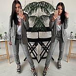 Женский стильный брючный костюм в клетку: пиджак и брюки (расцветки), фото 2