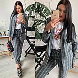 Женский стильный брючный костюм в клетку: пиджак и брюки (расцветки), фото 5
