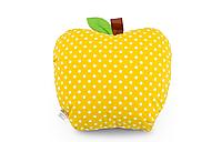Подушка декоративная Яблоко  42х47см, желтый горох