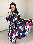 Женское красивое платье-midi с цветочным принтом (в расцветках), фото 9
