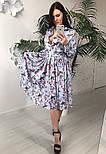Женское красивое платье-midi с цветочным принтом (в расцветках), фото 3