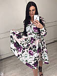 Женское красивое платье-midi с цветочным принтом (в расцветках), фото 7