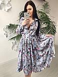 Женское красивое платье-midi с цветочным принтом (в расцветках), фото 4